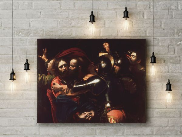 Caravaggio: The Taking of Christ. Fine Art Canvas.